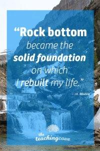 Motivational Monday 82 Rock Bottom