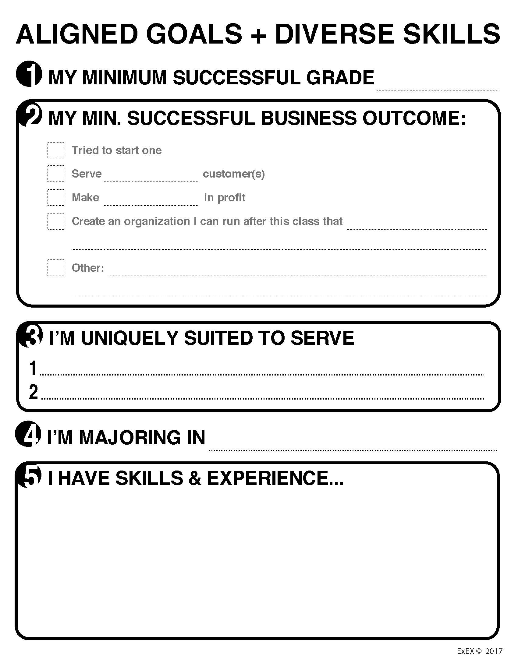 Aligned Goals Diverse Skills Page 1