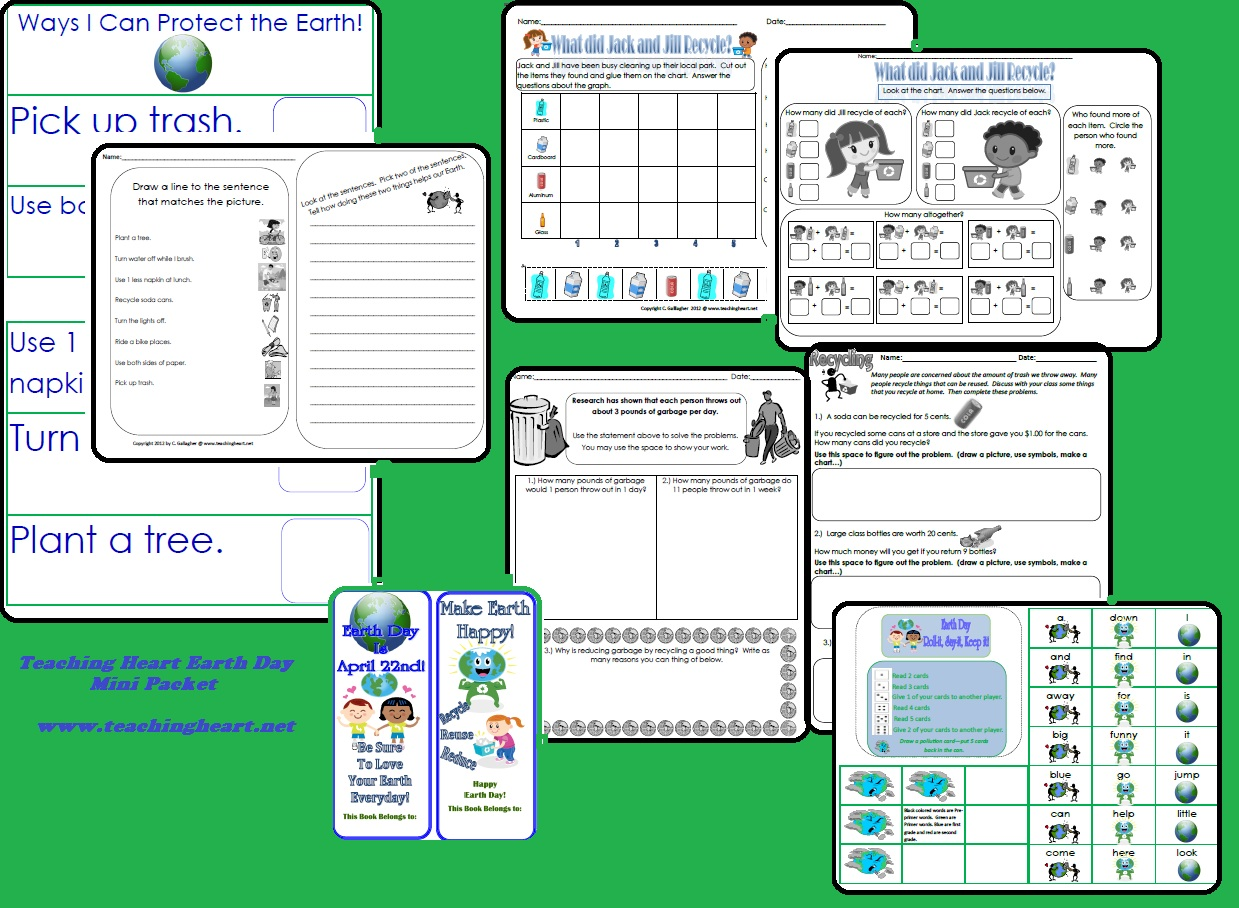 Earth Day Printable Activities For Teaching