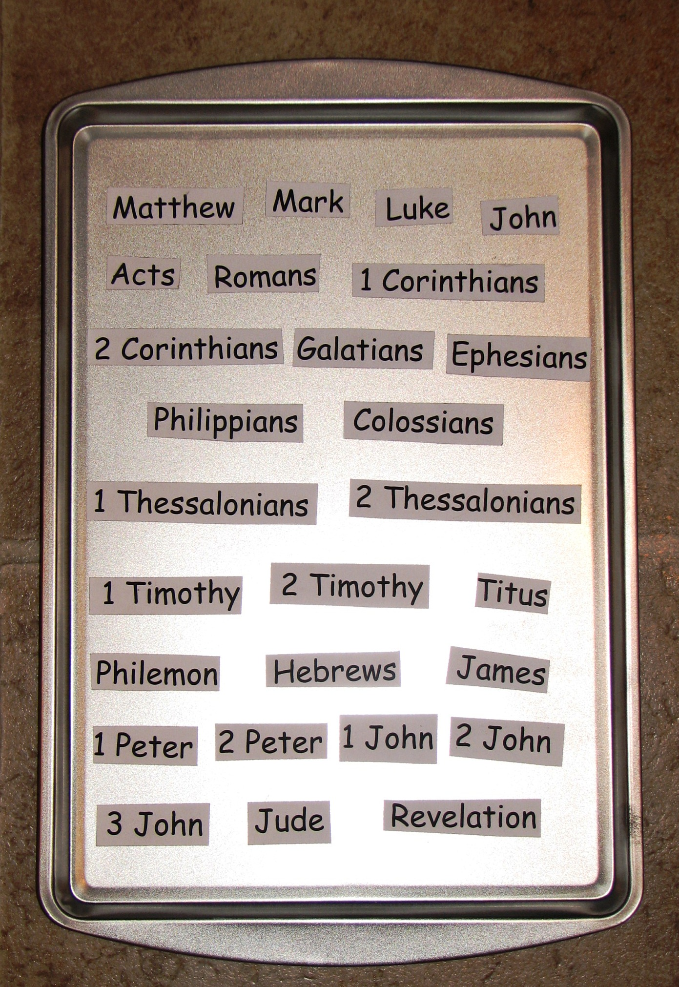 Activities With Books Of The Bible Teaching Help