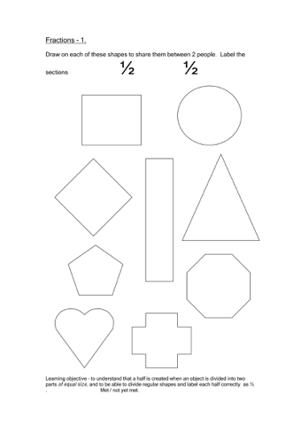 Fraction Templates. printable fraction coloring sheets fraction ...