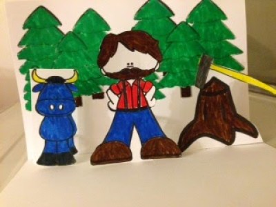 Paul Bunyan Pop Up Book