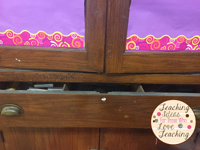 Classroom drawers and classroom decor