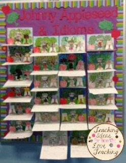 Johnny Appleseed Bulletin Board - Fall and Apples Activity