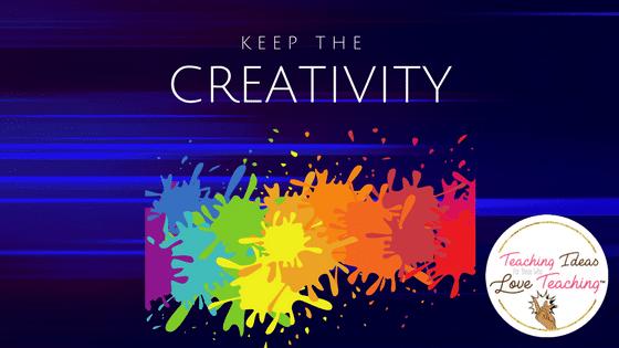 Keep The Creativity