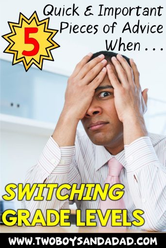 Ease teacher anxiety over new school year when switching grade levels.