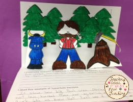 Free Paul Bunyan Guided Reading Activity