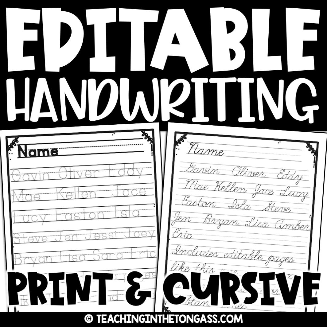 Print Amp Cursive Handwriting Practice Worksheets