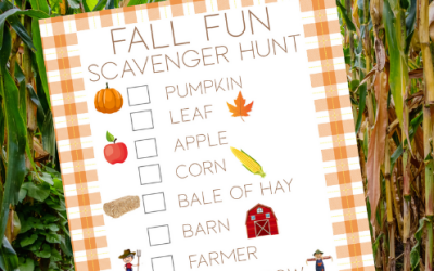 Free Printable Fall Scavenger Hunt for Toddlers and Preschool