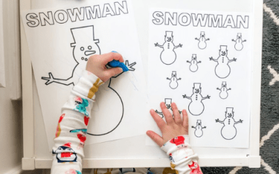 Winter Fine Motor and Coloring Sheets for Toddlers – Free Printable