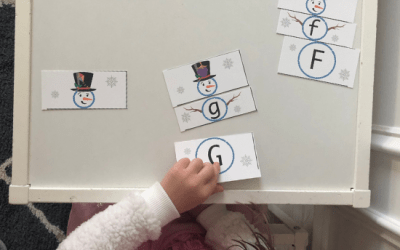 Free Printable Winter Snowman Letter Matching