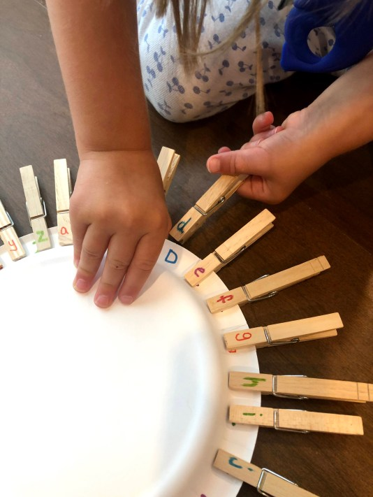 This is a simple and easy activity to teach your toddler or preschooler letters of the alphabet and provides fine motor practice as well