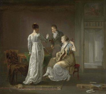 De muziekles by Moritz, Louis (1773-1850) - Rijksmuseum (Amsterdam) SK-A-4037