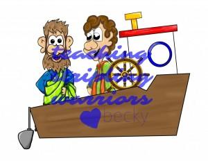 apostles in boat wm
