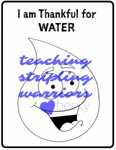 i am thankful for water WM