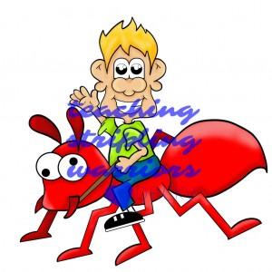 riding an ant WM