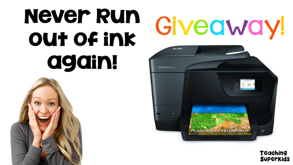 HP Printer Giveaway with Instant Ink