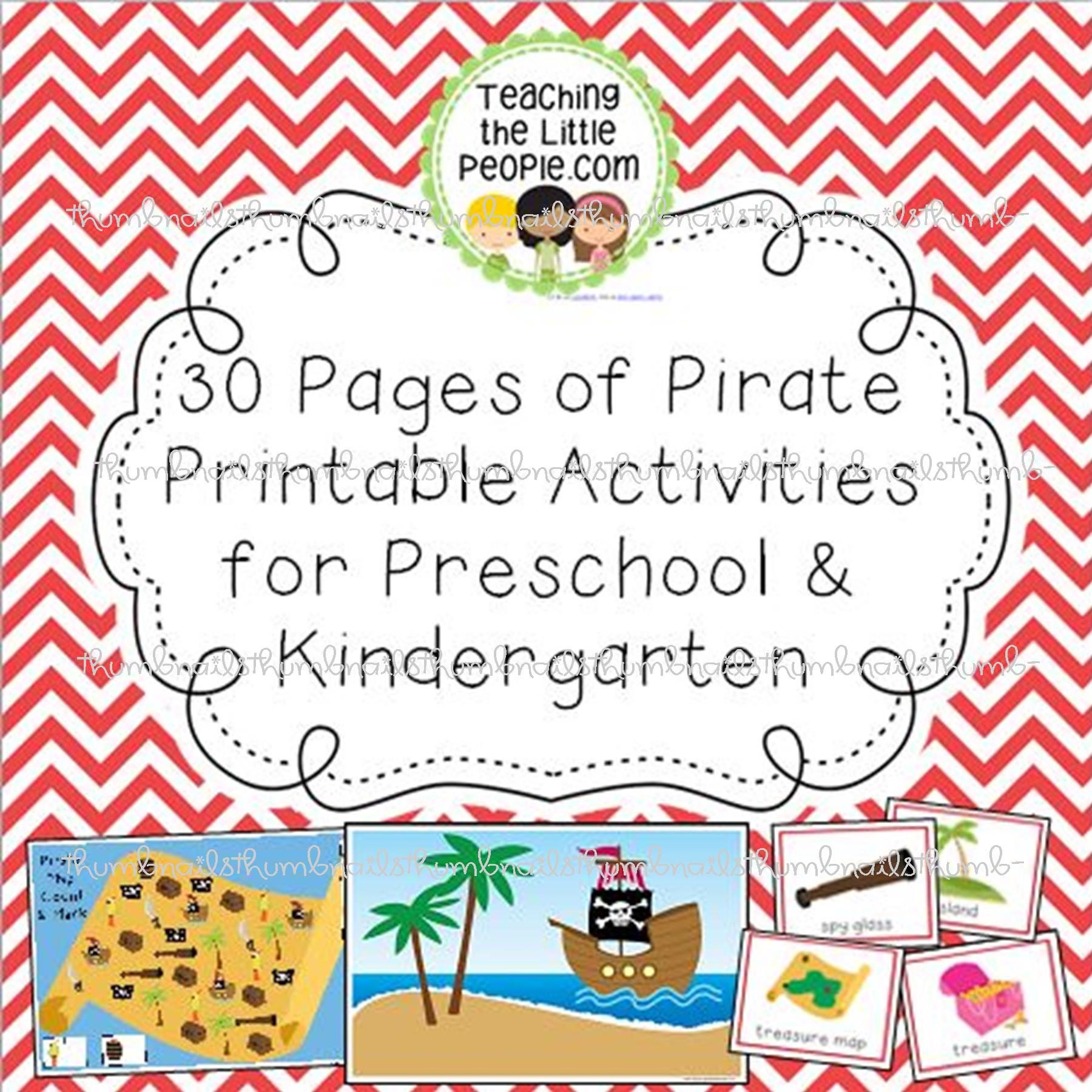 Pirate Printables For Preschool Amp Kindergarten Teaching