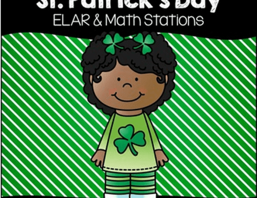 St. Patrick's Day Word Work and Math Stations