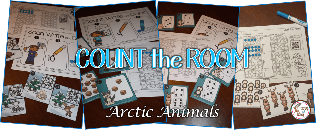 Arctic Animal Count the Room Math Stations