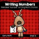 Reindeer Numeral Writing Practice 0-20