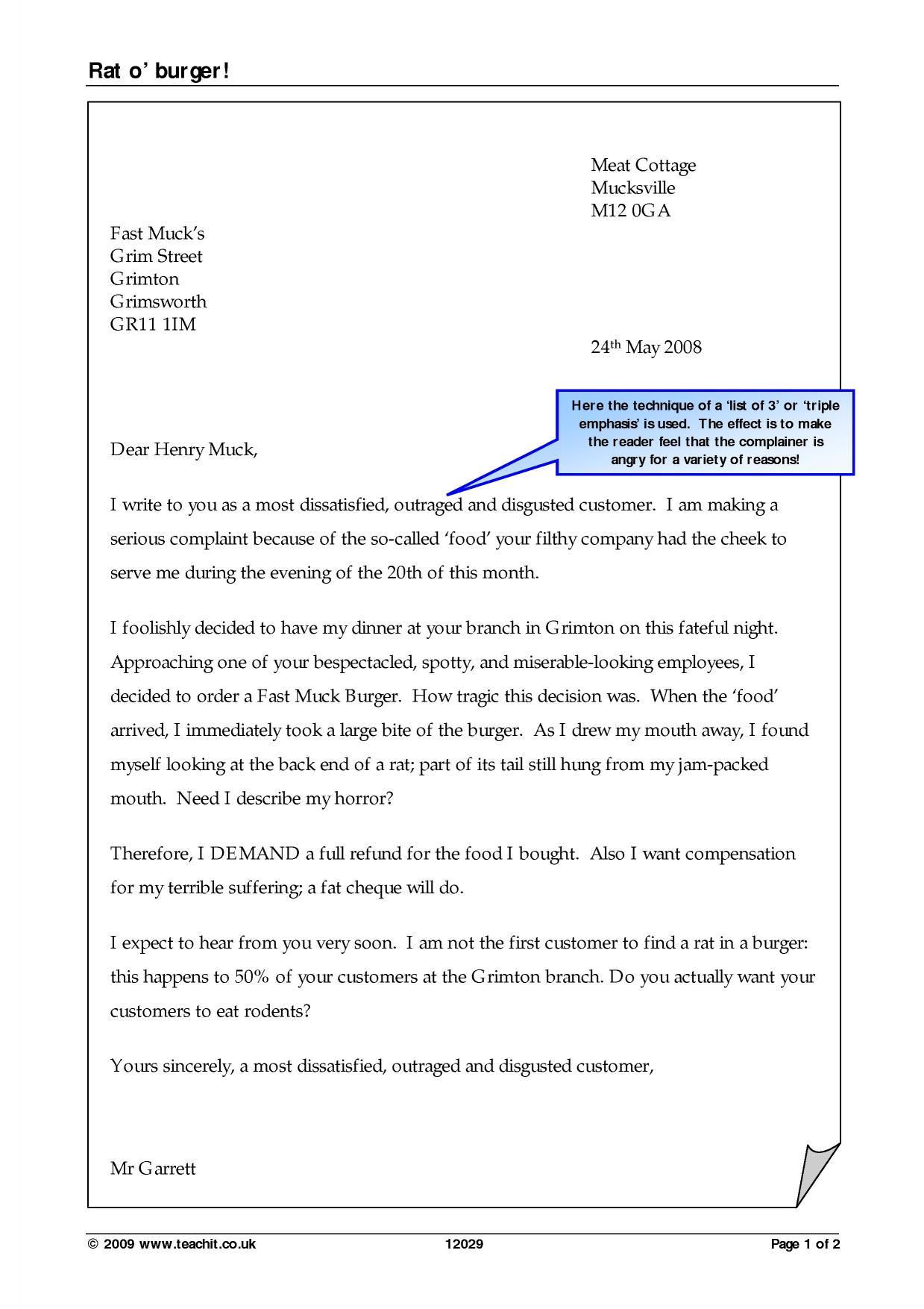Persuasive Letter Help