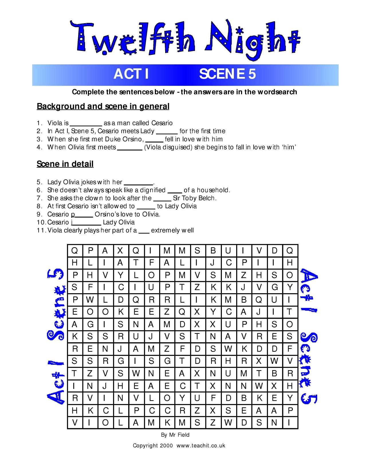 Fun Quiz And Wordsearch Activities