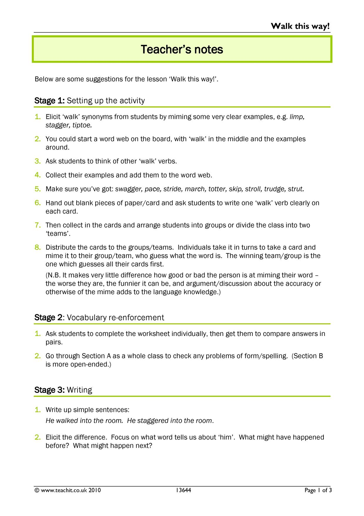 English Worksheet Key Stage 2