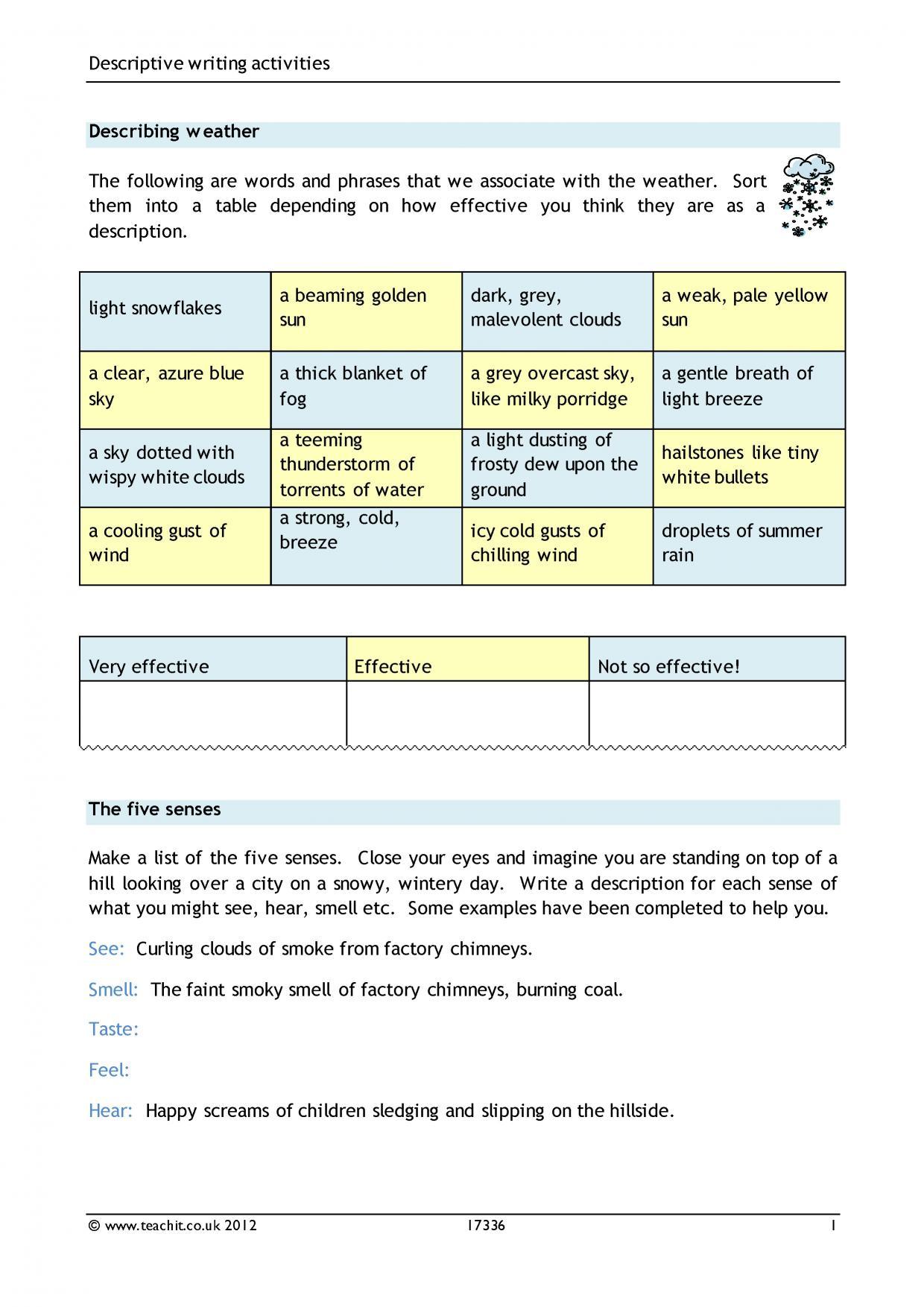 Writing To Inform Explain Describe
