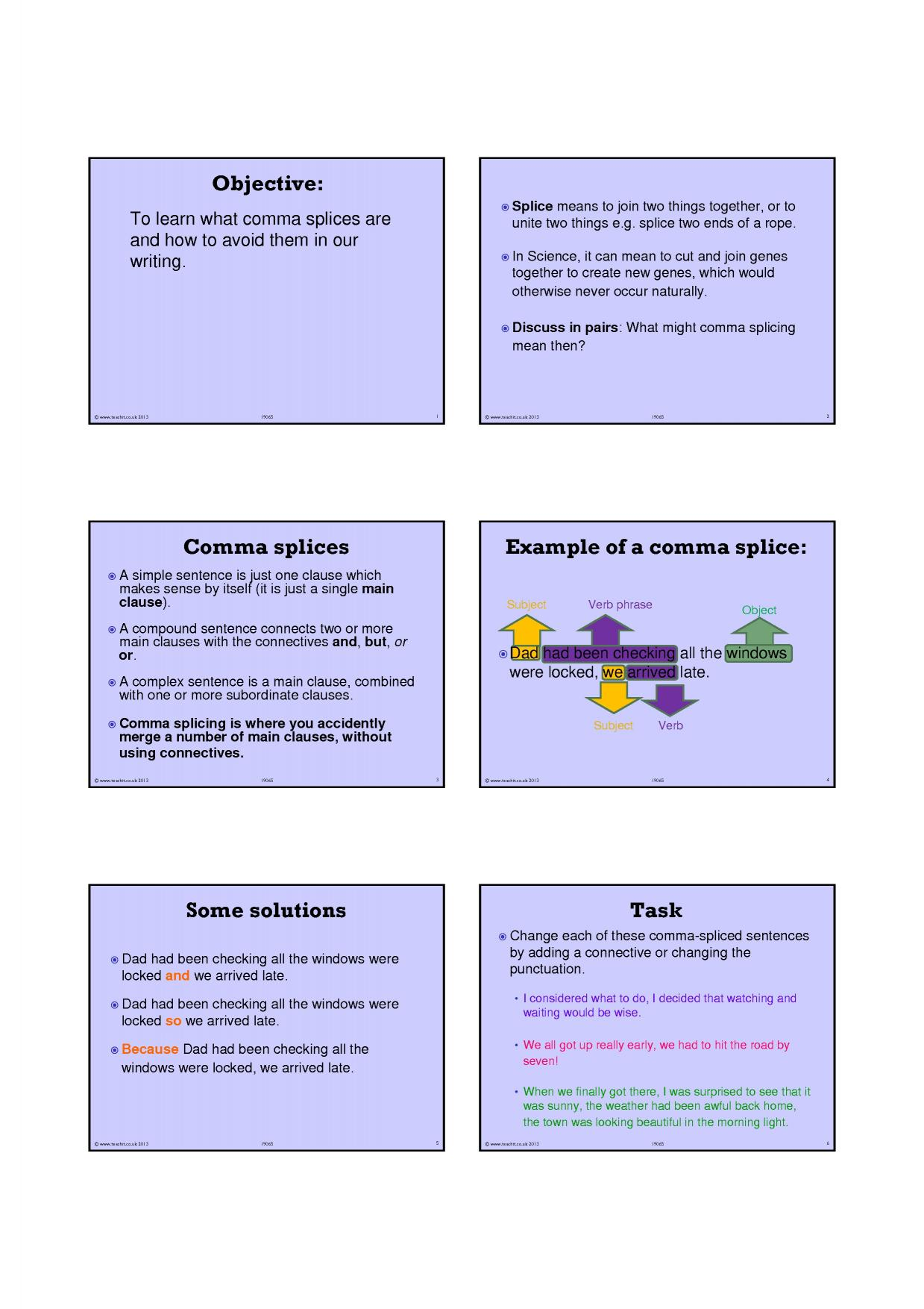 Using Commas To Clarify Meaning Worksheet