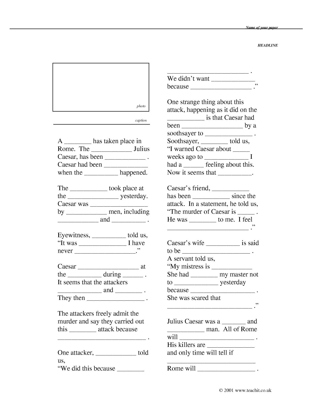Worksheet Julius Caesar Worksheets Grass Fedjp Worksheet Study Site