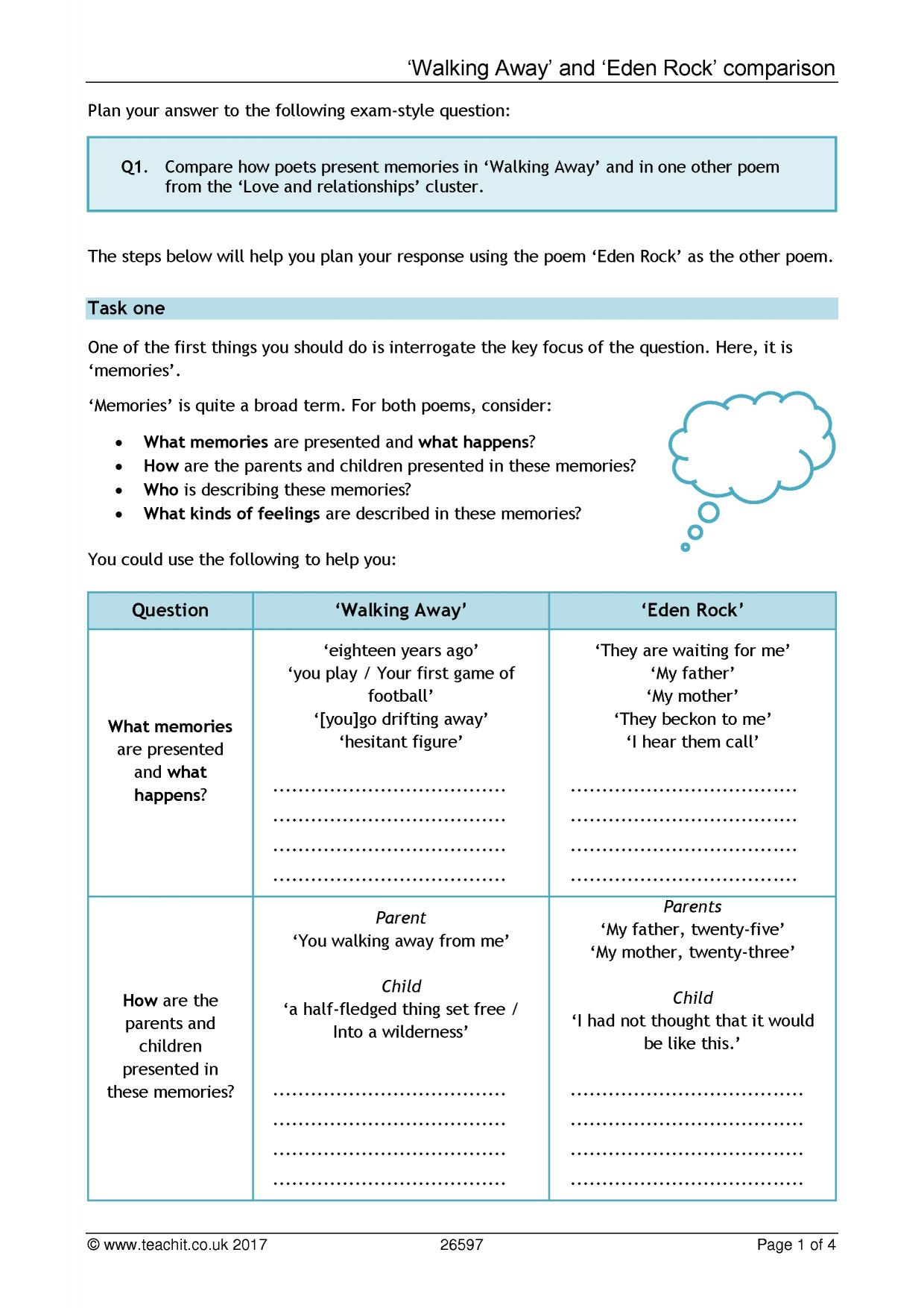 Key Stage 4 Poetry English Teaching Resources