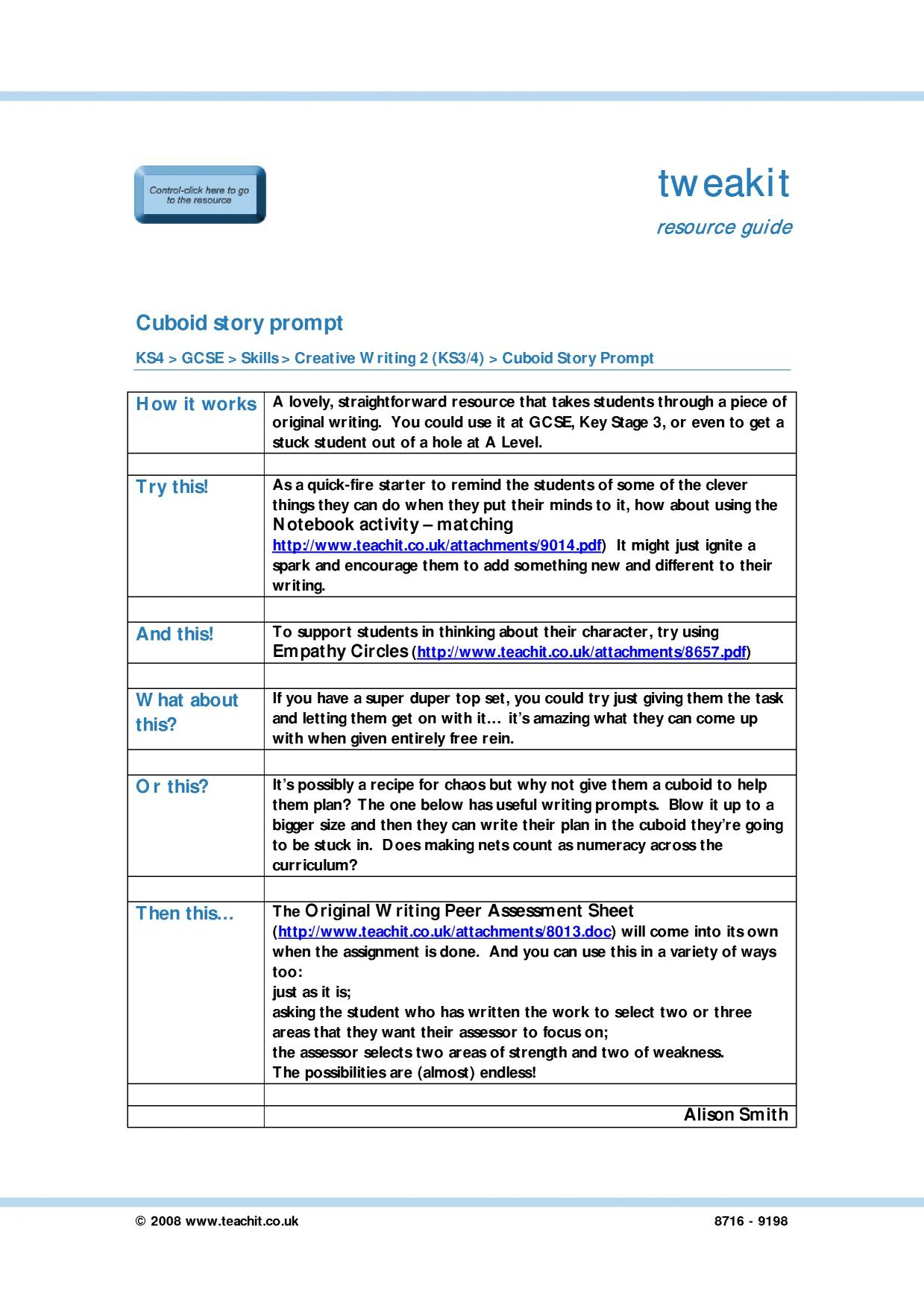 Gcse English Creative Writing Creative Writing 03 05