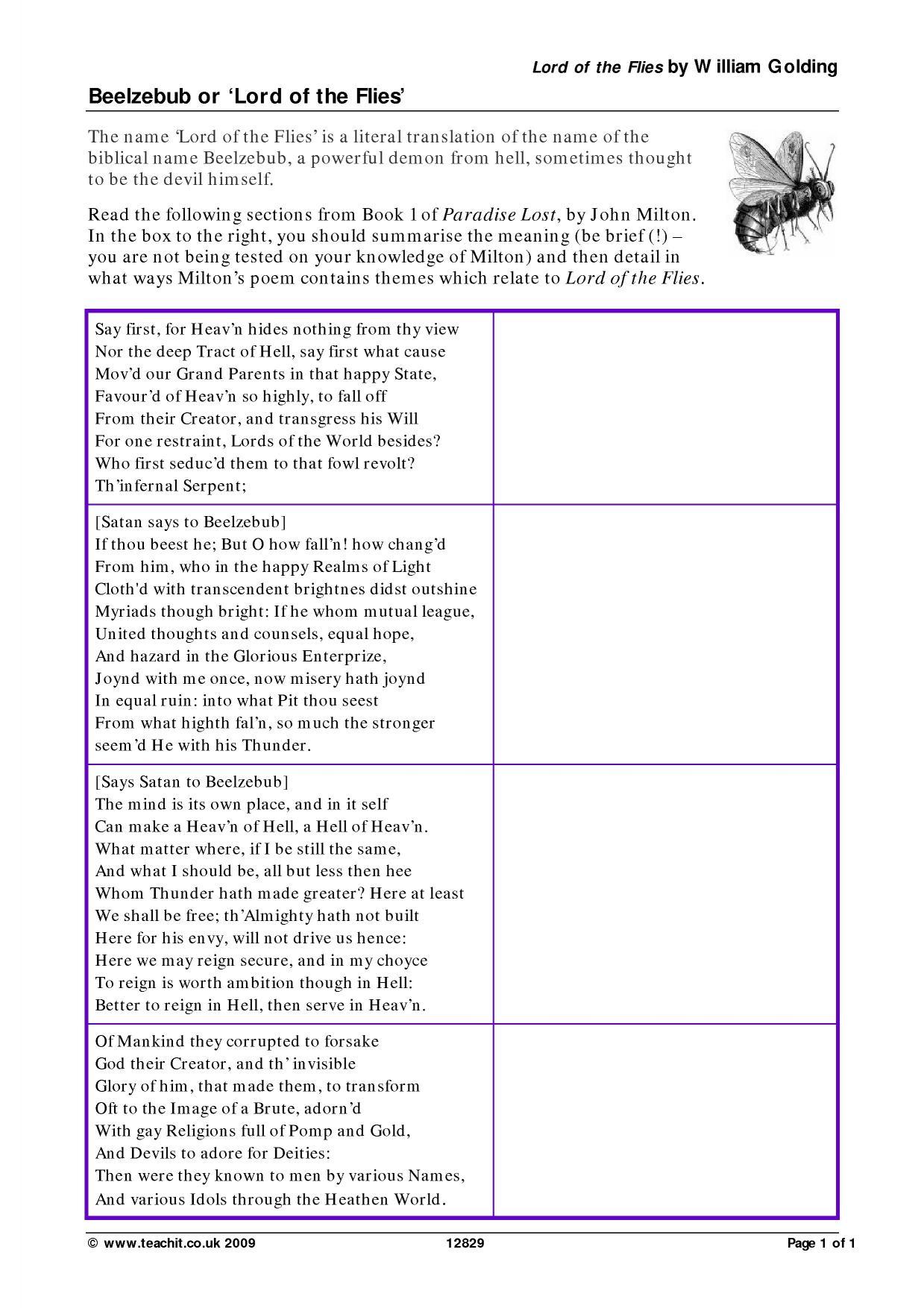 Synonyms Worksheet Ks4
