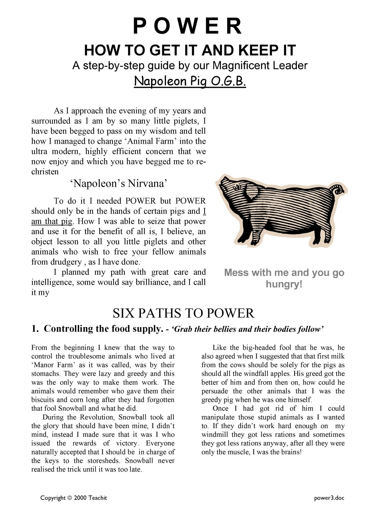 Power Pamphlet