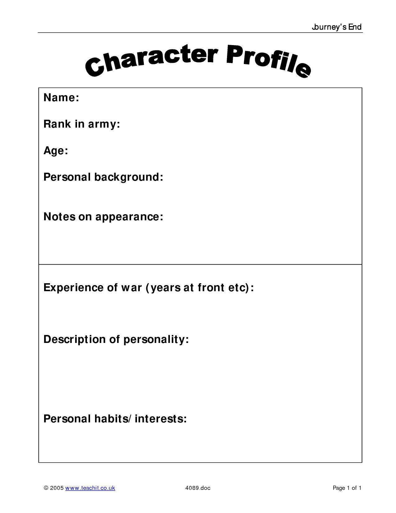 Character Profile