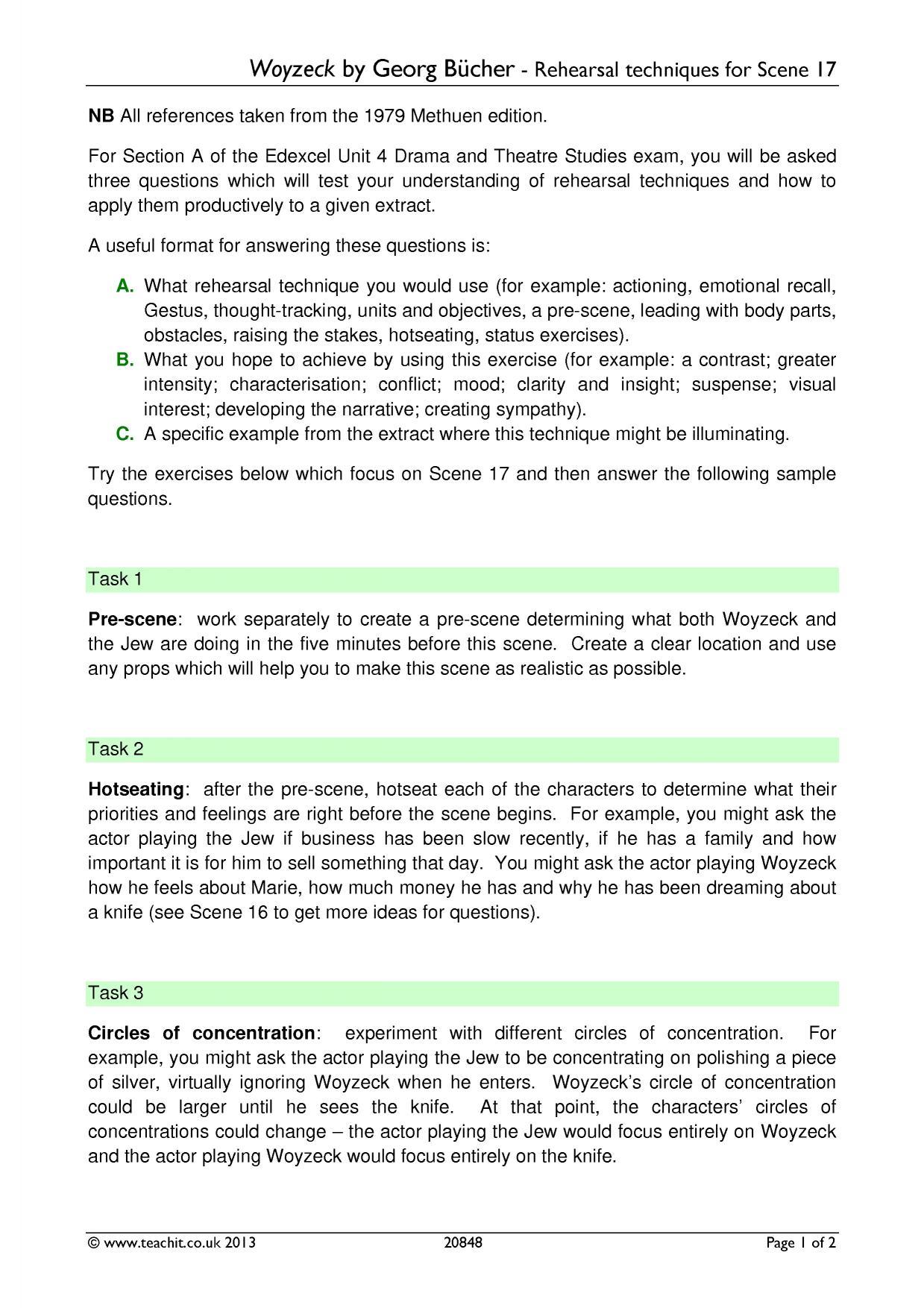 Ks5 Drama Teaching Resources For English Amp Drama Teachers