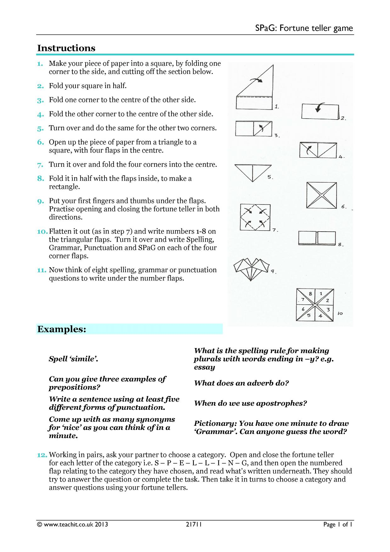 - Spag Worksheet Year 4 Printable Worksheets And Activities For