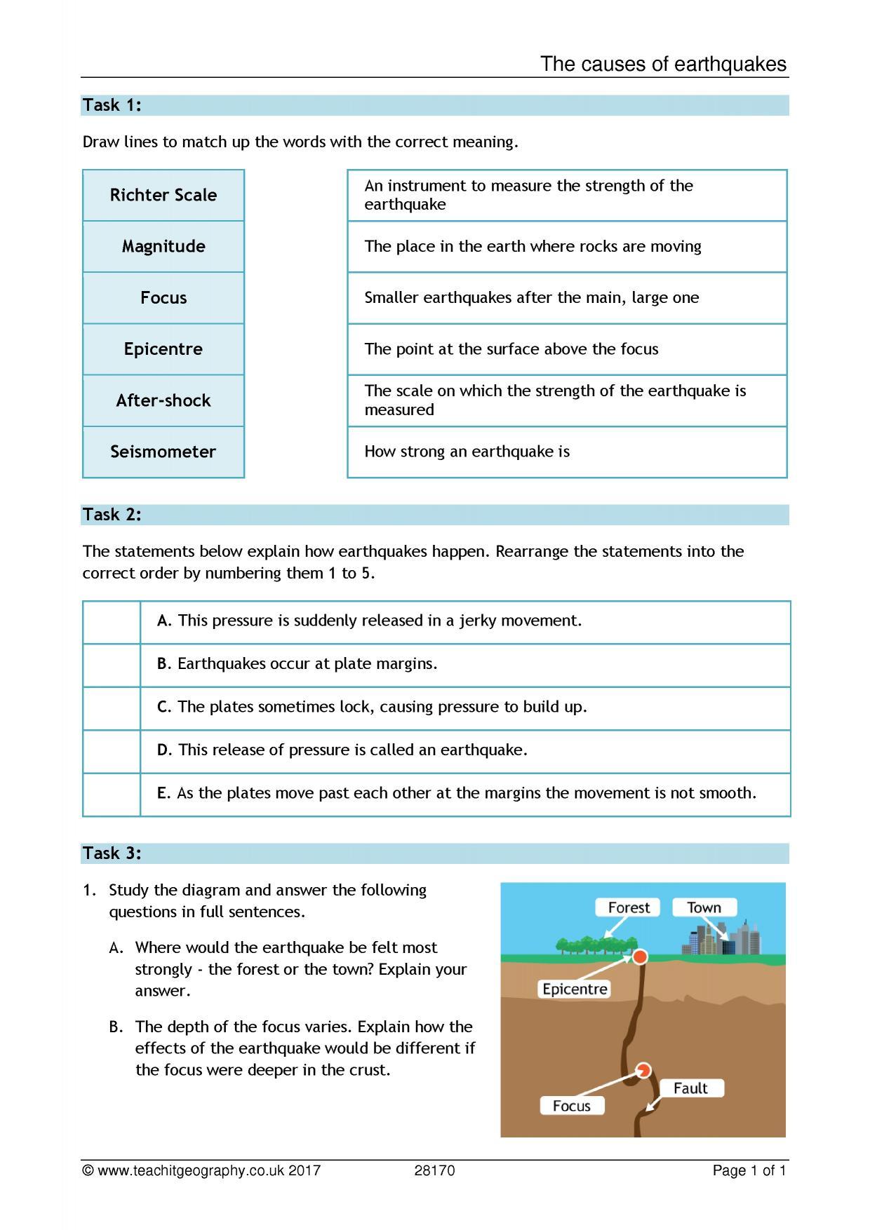 Worksheet Types Of Plate Boundaries Worksheet Worksheet