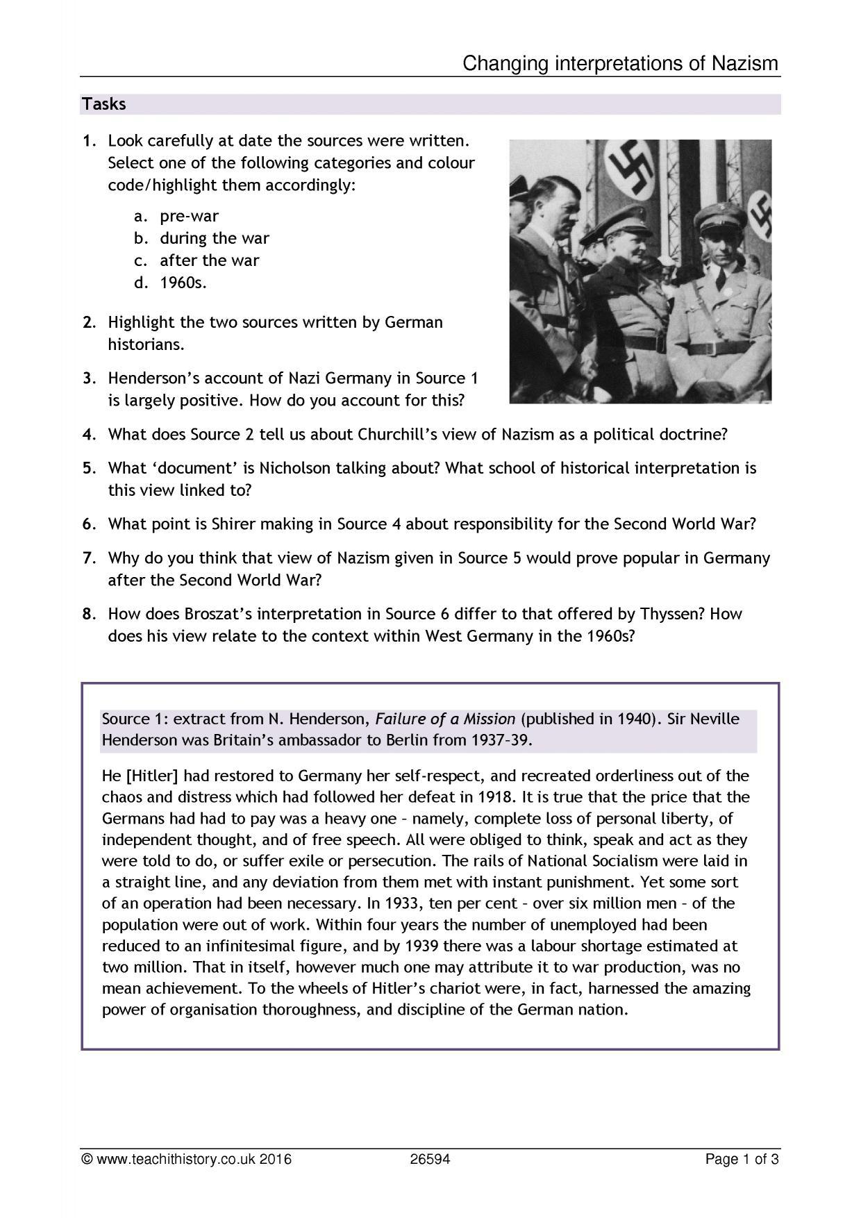History Teaching Resources On Interpretation