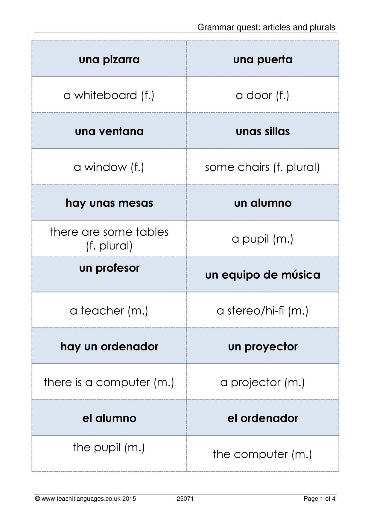 Ks3 Spanish