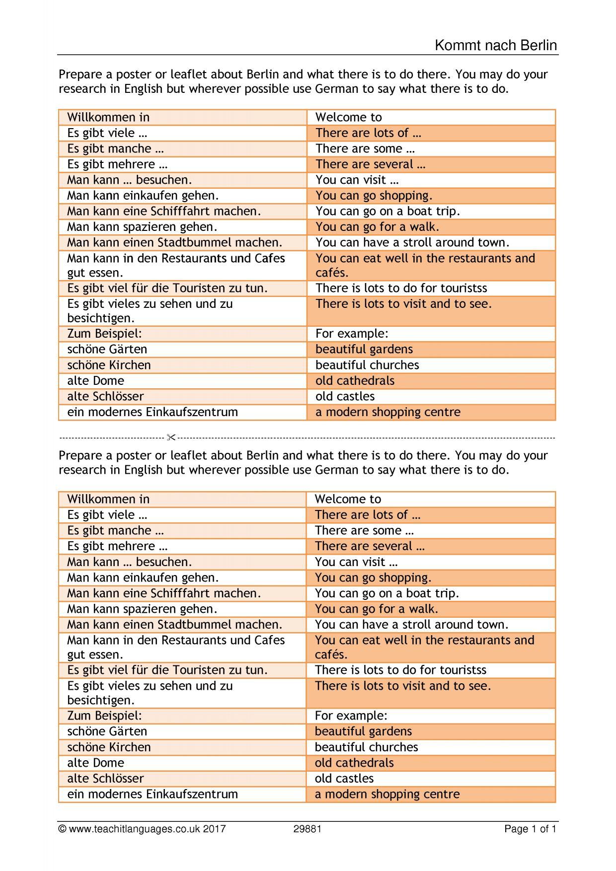 German Language Teaching Resources