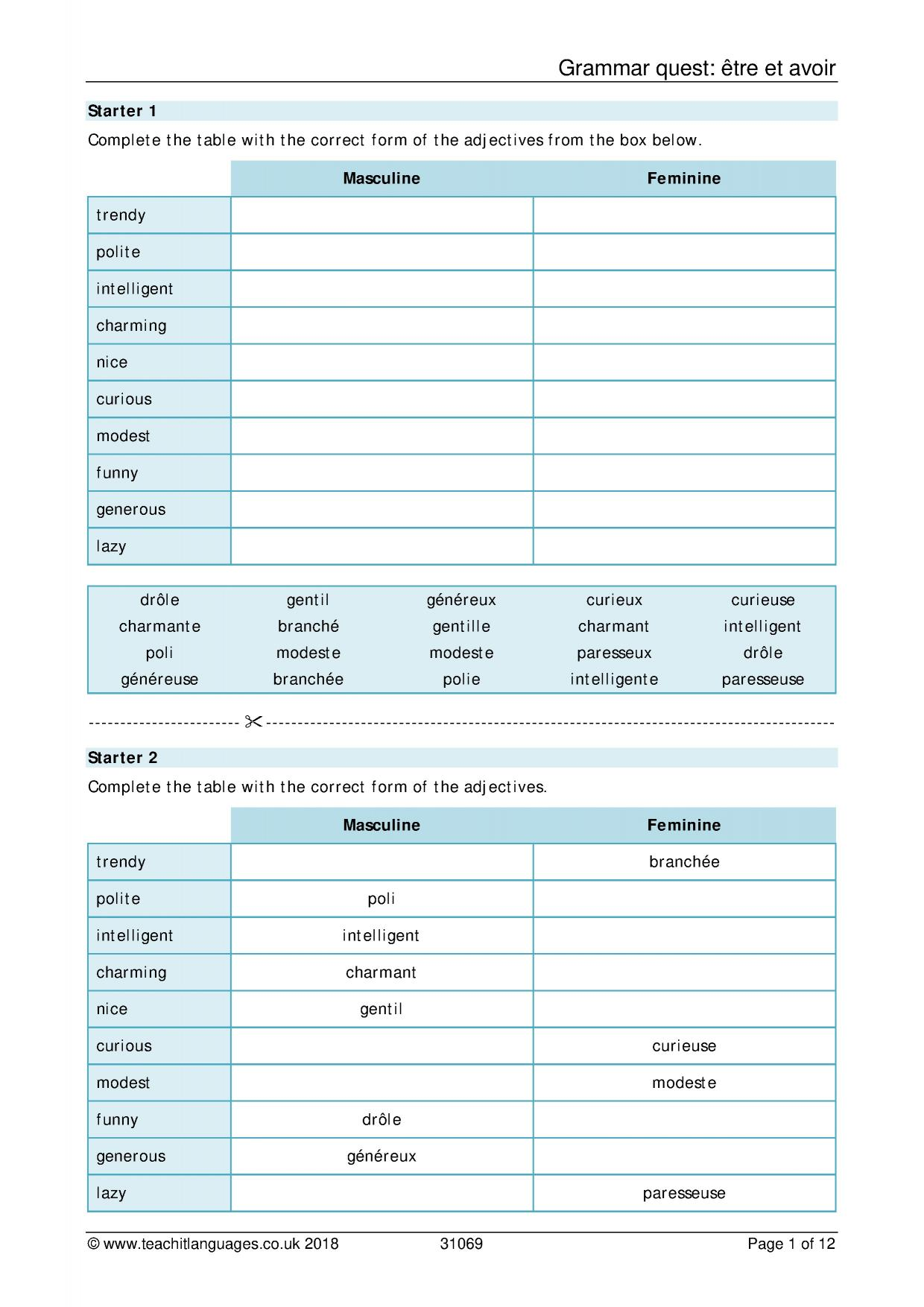 French Language Teaching Resources Teachit Languages