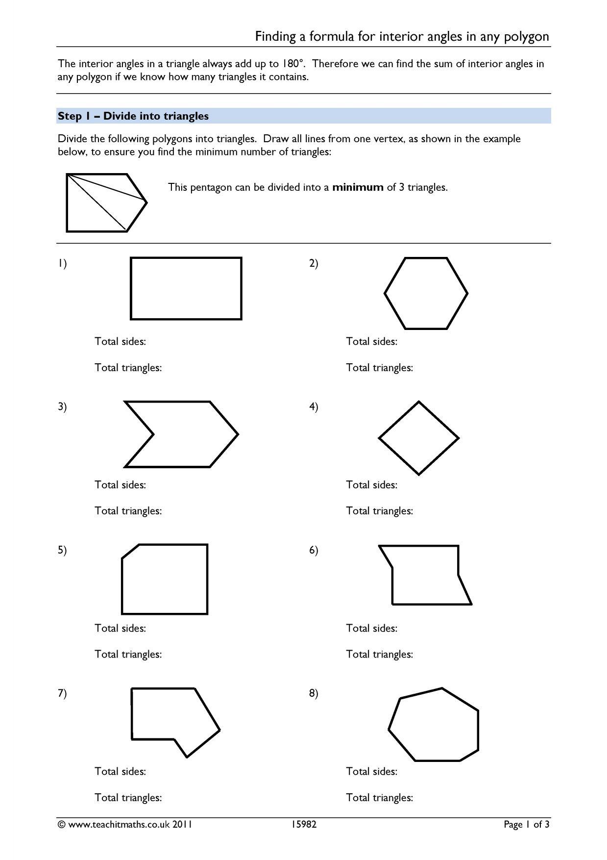 Clocks Worksheet On Angles