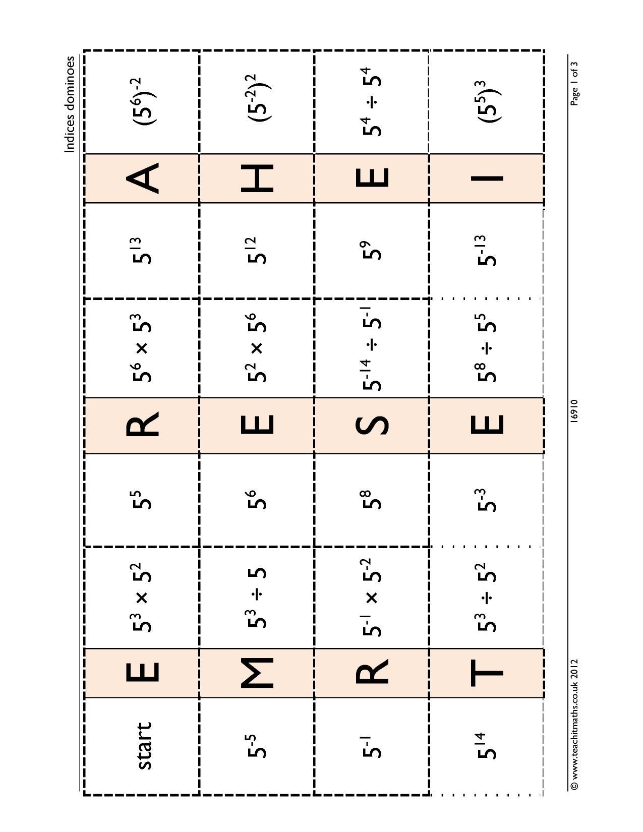 Dominoes Loop Cards And Treasure Hunts