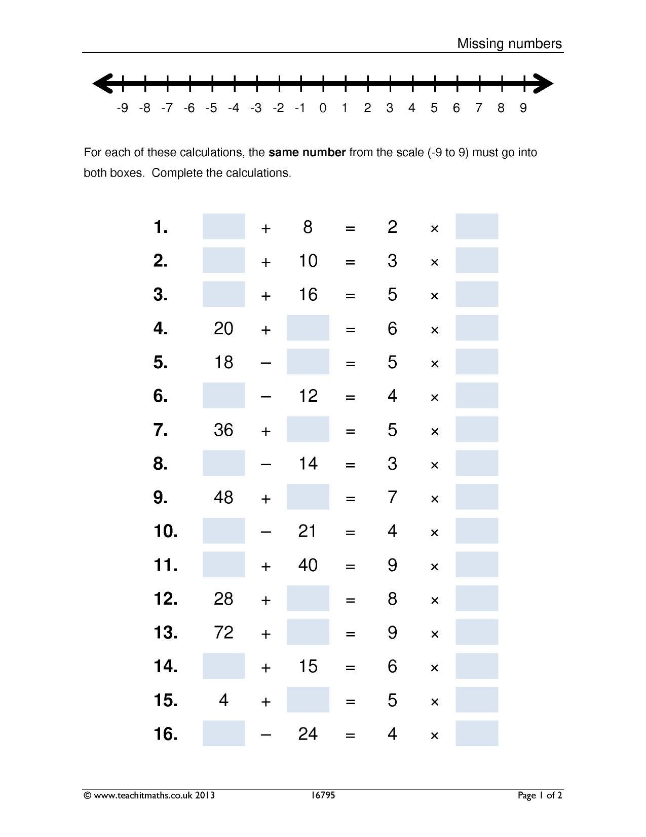 Missing Numbers