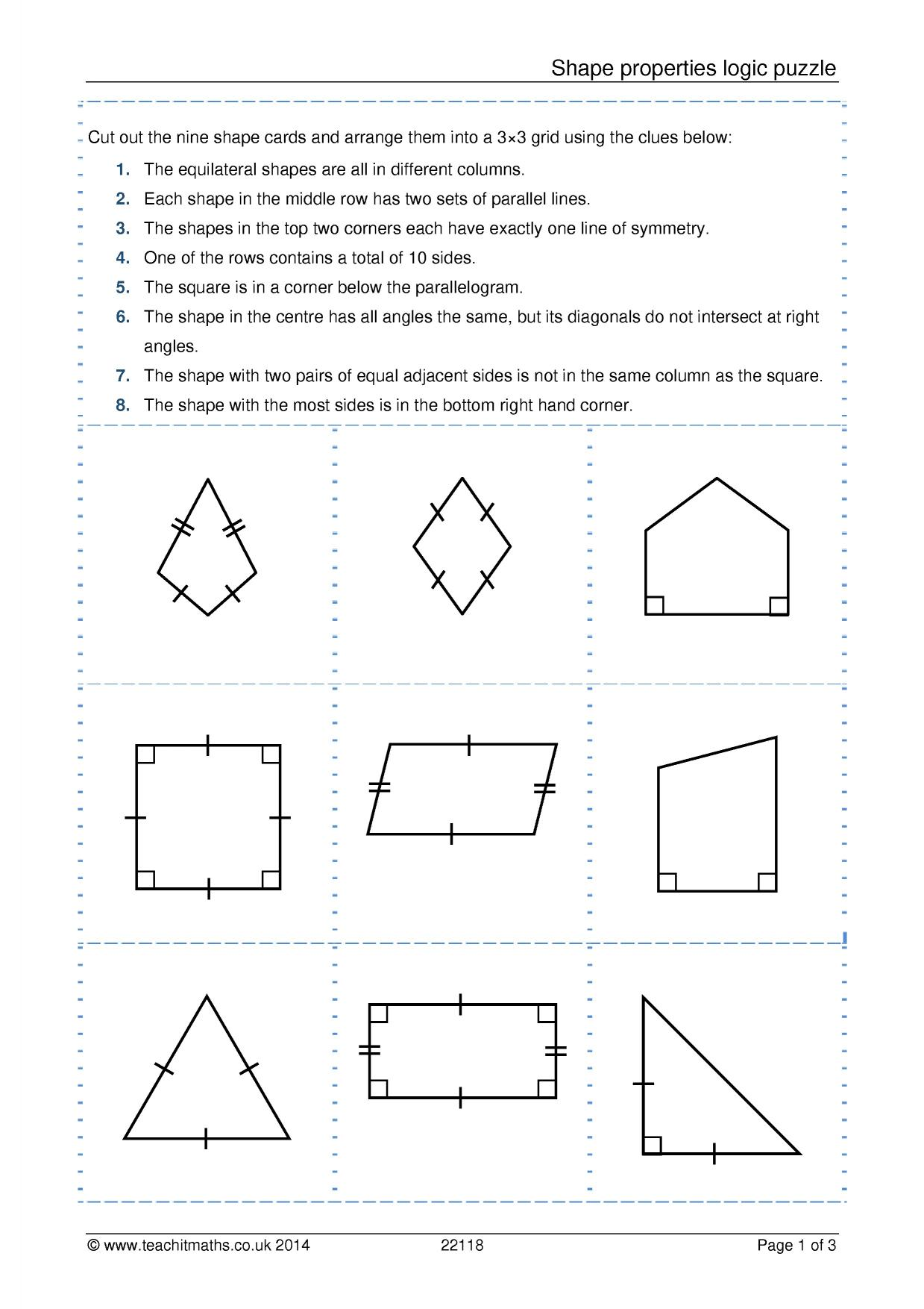 Identifying Quadrilaterals Worksheet Answers