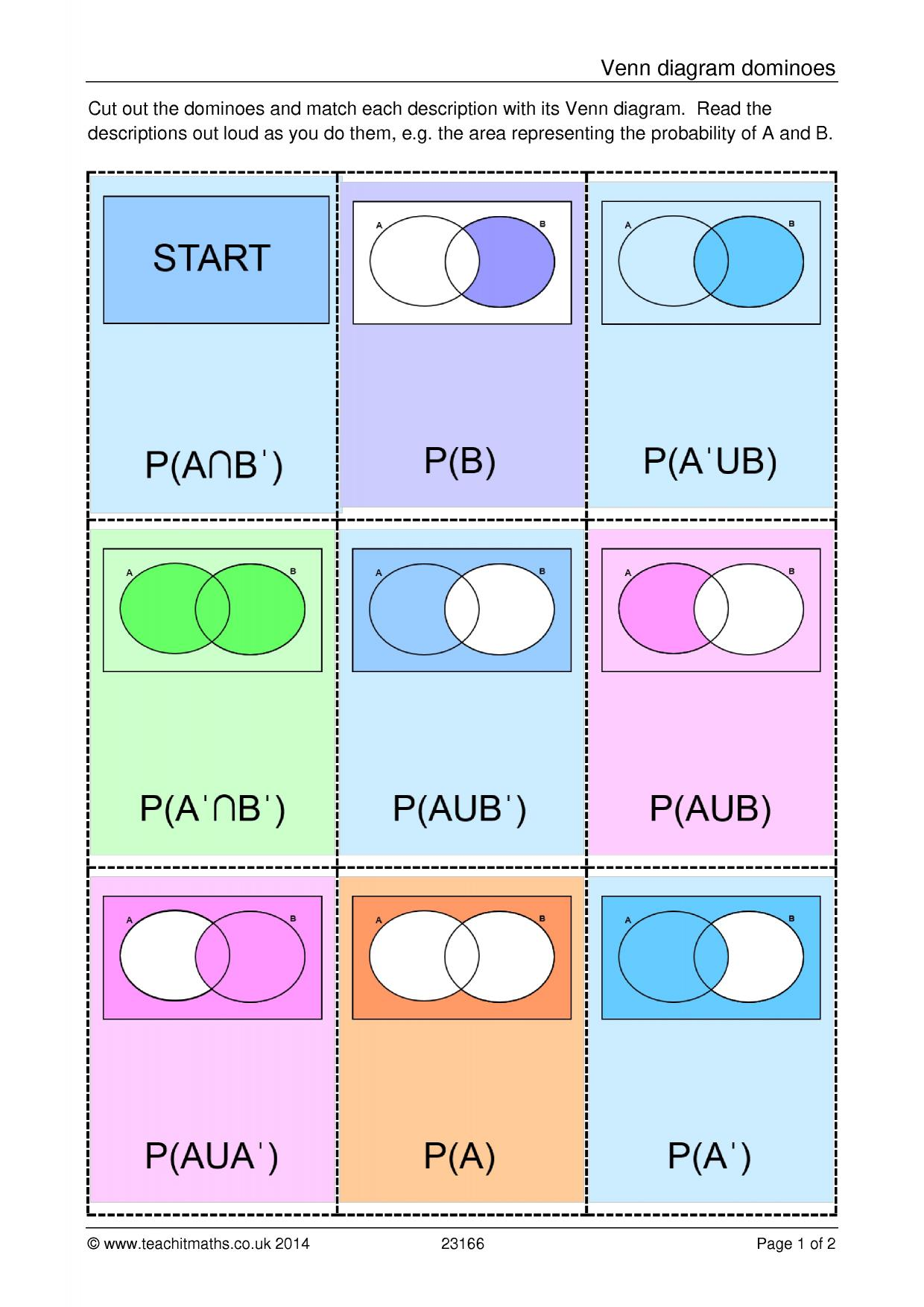 Venn Diagram Dominoes