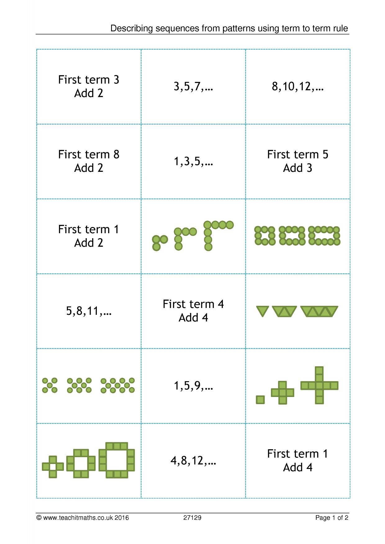 Sequences Term To Term