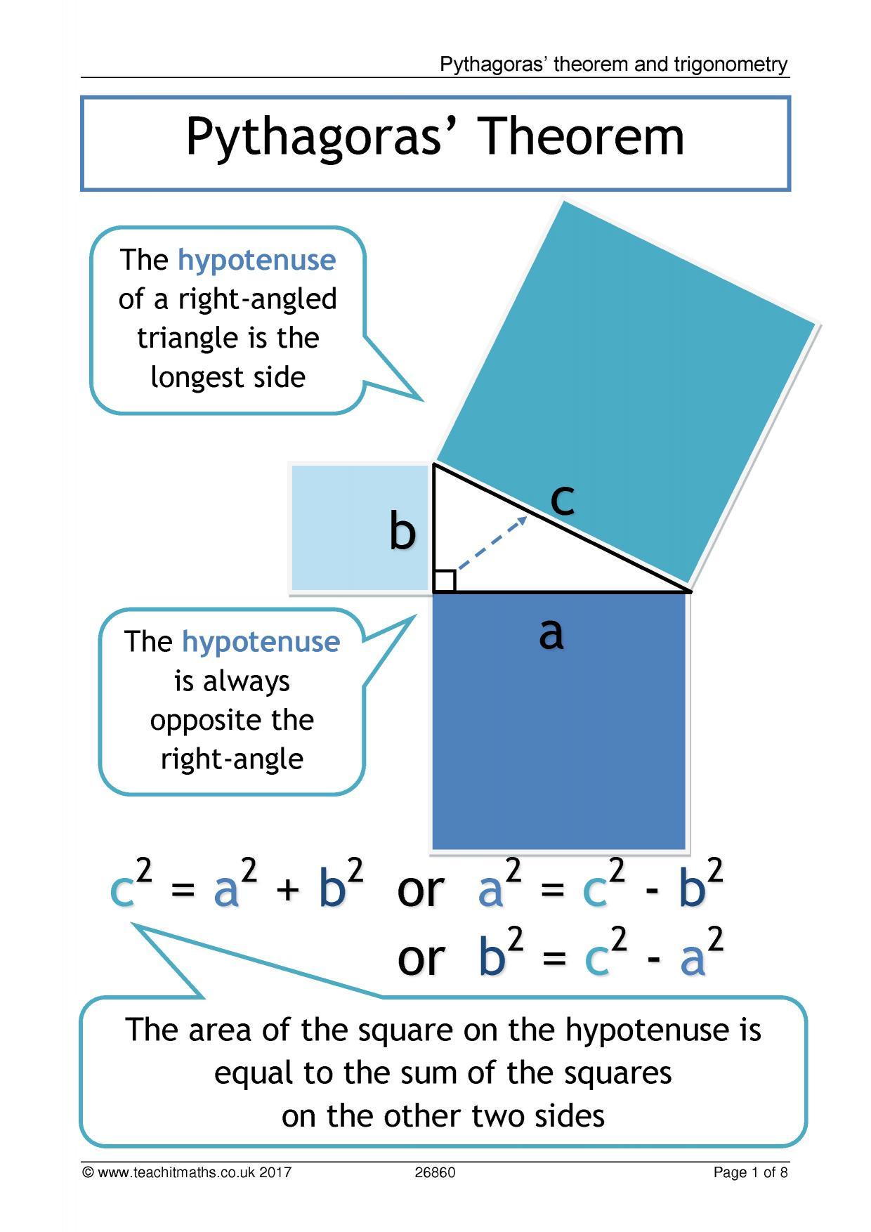 Trigonometry And Pythagoras Posters